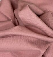 "Rose Blush Pink 100% Cotton Woven Textured Fabric 8 oz BTY 52"" W"