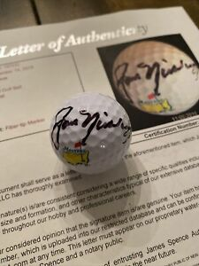 Jack Nicklaus Autographed SIGNED Masters Golfball W/JSA LOA