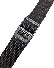 Timex 20mm Black Nylon Standard Everyday Water-Resistant Sport Buckle Watch Band