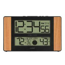 La Crosse Technology Atomic Digital Clock 11 in. x 7 in. Temperature Moon Phase
