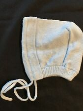 Sophie Dess Creations Paris NWT Cotton Knit Baby Hat Blue -small