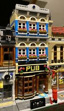 LEGO CUSTOM MODULAR PUB fits with 10264 for city or train display MOC 496