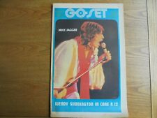 Go - Set  Feb 28 1970 Jagger cover  color Ronnie Burns poster Vol 5 N 9