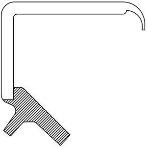 Engine Timing Cover Seal fits 2006-2012 Kia Sedona Amanti,Sorento Sedona,Sorento
