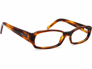 Versace Eyeglasses MOD3072 163 Tortoise Brown Rectangular Frame Italy 51-16 135