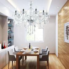 Ridgeyard 10 Arms Transparent Crystal Chandelier Home Decoration Pendant Lights