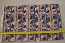 By 1/2 Yd, Floral on Tan Black & Navy Quilting Cotton, Alexander Henry, D806