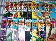 Lot of 19 Marvel THE THING Comics #3 - #36 Fantastic Four from 1983 up
