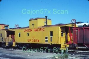 "Original slide- UP CA4 Caboose #25154 At Kansas City With Letter ""T"" 9/78"