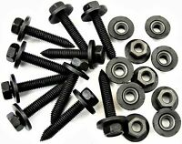 Honda Body Bolts /& Barbed Nuts 20 pcs #376 M6-1.0mm x 16mm Long 10mm Hex