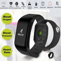 F1 Smart Watch Blood Pressure Heart Rate Monitor Fitness Sports Bracelet Band IO