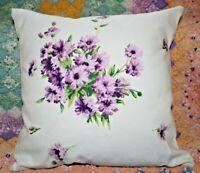 Throw Pillow Wilendur Purple Daisies Farmhouse Mid Century Tablecloth Sham