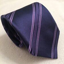 "Robert Talbott Tie Best Of Class Purple Striped Design  60"" Length Satin"