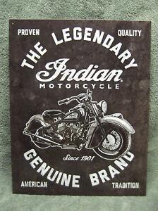 Indian Classic Bike Rally Tin Metal Sign Motorcycle Hog NEW