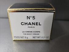Chanel Rare Miniature Perfume N 5 La Creme Body Cream Box .21 oz