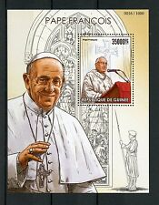 Guinea 2015 MNH Pope Franics 1v S/S Popes Roman Catholic Church