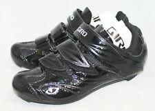 NWOB GIRO Sante II Cycling Shoe Wo's 5 Eu 36 Black Patent 3 Straps
