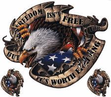 Aufkleber Set Freiheit Adler Freedom Eagle Sticker 12x16cm Airbrush Tank Helm **