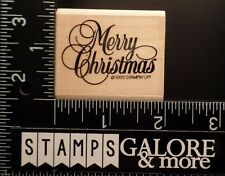 STAMPIN UP RUBBER STAMPS - 1992 GREAT GREETINGS - MERRY CHRISTMAS SAYING