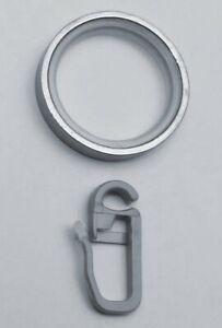 10 Gardinenringe mit Gleiteinlage für Edelstahl Vorhangstangen mit 16 - 20 mm Ø