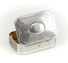 Joseph Willmore George III Birmingham Sterling Silver Snuff / Pill  Box c1820