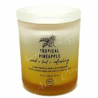 DW Home 9.3oz Medium Single Wick Glass Candle Jar 35 Hour - Tropical Pineapple