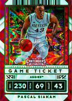 Pascal Siakam 2020-21 Contenders Draft Picks Green Explosion Variation Card #17