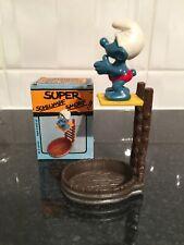 Vintage Peyo/schleich High Diver Super Smurf/Schtroumpf/Schlumpf.
