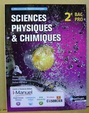 Livre Sciences physiques et chimiques CAP 2e BAC PRO /T31