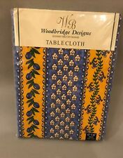 NEW Oblong French Provence Cotton Tablecloth Striped yellow blue olives flowers