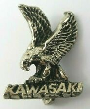 Vintage Heavy Metal 3D Eagle Kawasaki Motorcycle Pin Badge Motorbike Jacket