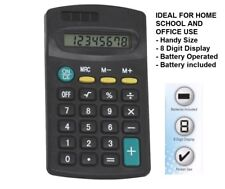 HANDY SIZE 8 DIGIT DISPLAY MINI POCKET SIZE CALCULATOR for Home School Office