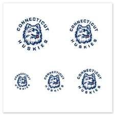 Uconn Huskies Fingernail Tattoos - 4 Pack