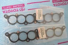 GENUINE TOYOTA INTAKE PLENUM GASKET SET OF 2 OEM 17176-62040 / 1717662040