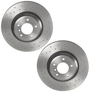 Brembo Xtra Pair Set 2 Front X-Drilled Disc Brake Rotors For BMW E84 E90 E92 E93