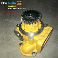 Water Pump 6151-62-1102 Fit for Komatsu 6D125E Engine PC400-6 PC400-7 PC400-8