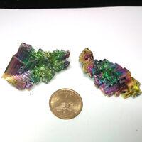 100g Bismuth rainbow bright crystal geode each weight 30-70g element Bi Mineral