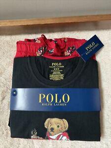 NWT - Polo Ralph Lauren Men's Hot Cocoa Bear Pajama Set RED LTD Edition - Size M