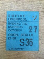 Roxy Music concert ticket 1973 Liverpool Empire - Stranded tour