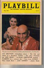 Playbill Magazine May 1985 Yul Brynner Mary Beth Peil David Evans Jim Dale As Is