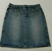 Ralph Lauren Polo Jeans Co. Blue Jean Denim Skirt, Size XL