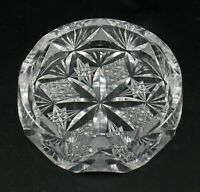 Kristallglas Glas klar geschliffen Aschenbecher Zigarrenascher klassisch elegant