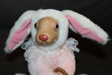 Vtg 1990 ROBERT RAIKES ORIGINALS Stuffed PINK Easter Bunny lot r