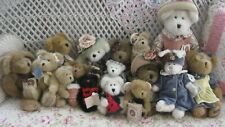 Lot of 20 Vintage Boyds Plush Bears~Dog~Lamb~ Tagged~Clothes~Victorian Hats