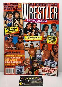 Vintage 80's Superstar Wrestle Wrestling Magazine Rock 'N' Roll Express NWA AWA