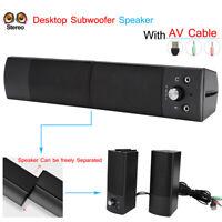 USB filaire haut-parleurs basse basse stéréo Soundwoofer pour PC de bureau