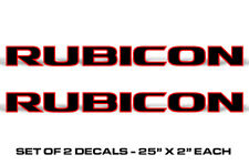 "25"" X 2"" Universal Rubicon Decals Sticker Graphics For Jeep Wrangler RED OUTLINE"