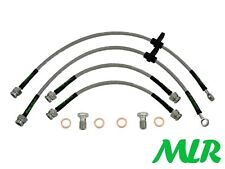 MG ZR 1.4 1.8 2.0 TDCI DRUM STAINLESS STEEL BRAIDED BRAKE LINES HOSES PIPES VJ
