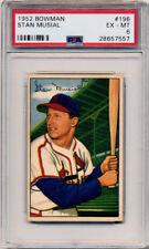 1952 Bowman #196 STAN MUSIAL Cardinals EX-MT PSA 6
