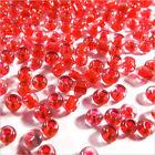 cuentas de rocalla de vidrio Transparente 2mm Centro Rojo 20g (12/0)
